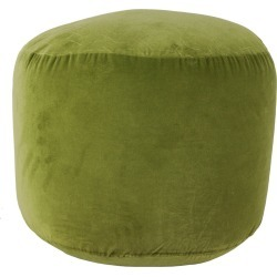 Natalie Velvet Pouf Green - Décor Therapy