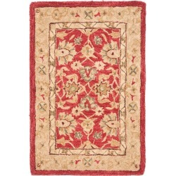 Red/Ivory Floral Tufted Accent Rug 2'X3' - Safavieh