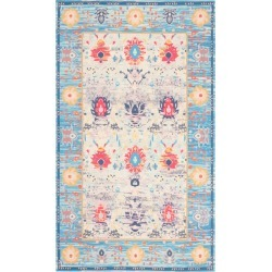 3'X5' Floral Loomed Accent Rug Blue/Light Gray - Safavieh found on Bargain Bro India from target for $85.49