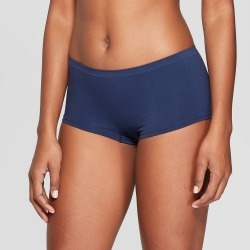 Women's Seamless Boyshort - Auden Smart Blue L, Size: Large found on Bargain Bro Philippines from target for $5.00