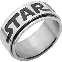 Men's Star Wars Logo Stainless Steel Spinner Ring, Size: 9, Silver found on MODAPINS from target for USD $8.89