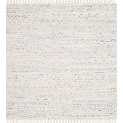 Solid Woven Square Area Rug - White (8'X8') - Safavieh, Size: 8'X8' found on Bargain Bro Philippines from target for $144.39