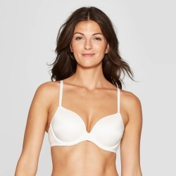Women's Full Coverage Icon Lightly Lined T-Shirt Bra - Auden Fresh White 32D found on Bargain Bro Philippines from target for $14.99