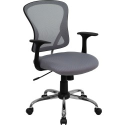 Riverstone Furniture Collection Mid Back Task Chair Gray
