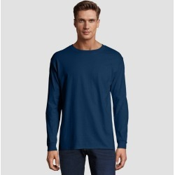 Hanes Men's Long Sleeve Beefy T-Shirt - Navy XL, Blue found on Bargain Bro Philippines from target for $9.99