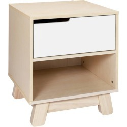 Babyletto Hudson Nightstand With Usb Port - Washed Natural / White, Washed Natural/White