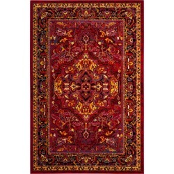 Red/Fuchsia Medallion Loomed Accent Rug 4'X6' - Safavieh, Red/Pink