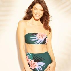 Women's Bandeau Bikini Top - Kona Sol Green XS