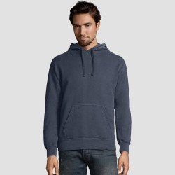 Hanes Men's Big & Tall Comfort Wash Fleece Pullover Hooded Sweatshirt - Slate 3XL, Men's, Grey found on Bargain Bro Philippines from target for $22.49