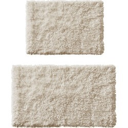 2pc Clout Organic Cotton Bath Rug Set Natural