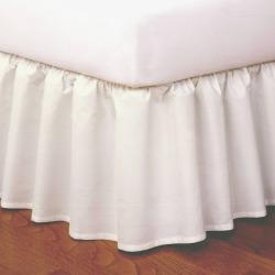 Magic Skirt Ruffled California King Bed Skirt White