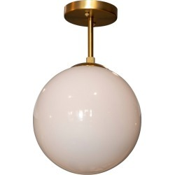 Michael Milk Glass Semi - Flush Mount Ceiling Light Gold - Decor Therapy found on Bargain Bro Philippines from target for $59.99