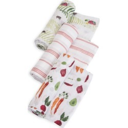 Little Unicorn Swaddle Blanket 3pk Farmer's Market, Clear Multicolored found on Bargain Bro India from target for $37.95