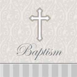 16ct Devotion Baptism Napkins