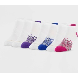 All Pro Women's Aqua FX Heel Toe Cushion 6+1 Bonus Pack No Show Athletic Socks - White/Pink 4-10, Size: Small found on Bargain Bro Philippines from target for $10.99