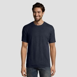 Hanes 1901 Men's Short Sleeve T-Shirt - Navy (Blue) S found on Bargain Bro India from target for $7.99