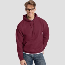 Hanes Men's EcoSmart Fleece Pullover Hooded Sweatshirt - Maroon (Red) S found on Bargain Bro India from target for $10.99
