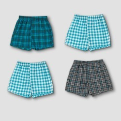 Hanes Premium Men's 4pk Woven Boxer Briefs - Blue/Red Plaid /Green Plaid L, Men's, Size: Large, MultiColored found on Bargain Bro Philippines from target for $21.99