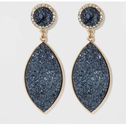 SUGARFIX by BaubleBar Teardrop Druzy Earrings - Navy, Women's, Blue