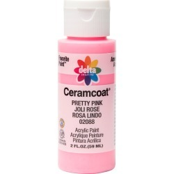 2 fl oz Acrylic Craft Paint Pretty Pink - Delta Ceramcoat found on Bargain Bro from target for $0.99