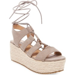 Women's Pebbles Wrap Flatform Espadrille Sandals - Mossimo Supply Co. Taupe 10, Light Taupe