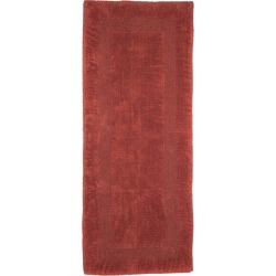 Solid Reversible Long Bath Rug Brick - Yorkshire Home