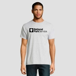 petiteHanes Men's Short Sleeve National Parks Service Graphic T-Shirt - Silver 2XL, Men's, Light Silver found on Bargain Bro Philippines from target for $9.99