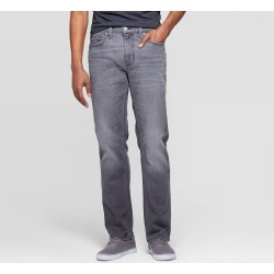 Men's 32 Regular Slim Straight Fit Jeans - Goodfellow & Co Gray 40x32 found on Bargain Bro India from target for $20.00