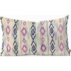 RosebudStudio Boho Moma Oblong Throw Pillow Black - Deny Designs