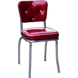 Lucy Diner Chair Zodiac Burgundy - Richardson Seating, Red