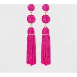 SUGARFIX by BaubleBar Monochrome Tassel Drop Earrings - Pink, Women's