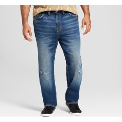 Men's Big & Tall Slim Straight Fit Jeans with Coolmax - Goodfellow & Co Light Wash 58X32, Blue found on Bargain Bro India from target for $20.00