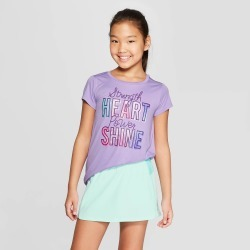 Girls' Strength Heart Power Shine Graphic Tech T-Shirt - C9 Champion Light Purple XL, Girl's found on Bargain Bro India from target for $9.99