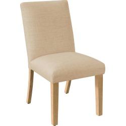 Pleated Dining Chair Linen Sandstone Furniture - Skyline Furniture