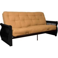 Storage Arm 8 Inner Spring Futon Sofa Sleeper - Black Wood Finish - Epic Furnishings, Green found on Bargain Bro India from target for $579.99