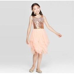 Girls Dresses Blush Pink XXL Plus ZENZI Girl s