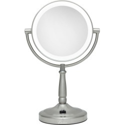 Zadro Pedestal Vanity Mirror - Satin Nickel found on Bargain Bro India from target for $59.99
