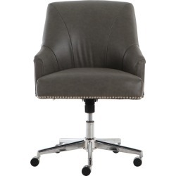 Style Leighton Home Office Chair Gathering Dark Gray - Serta found on Bargain Bro India from target for $179.99