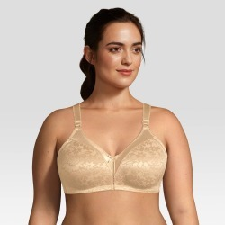 Beauty by Bali Women's Double Support Jacquard Wirefree Bra B372, Size: 40B, Brown Brown found on Bargain Bro Philippines from target for $19.99