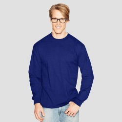 Hanes Men's Long Sleeve Beefy T-Shirt - Deep Blue 2XL found on Bargain Bro India from target for $9.99