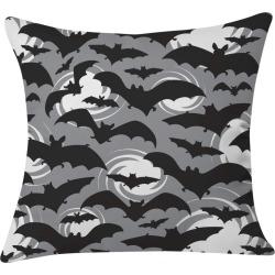 "20""x20"" Heather Dutton Night Watch Throw Pillow Black - Deny Designs, Gray Black"
