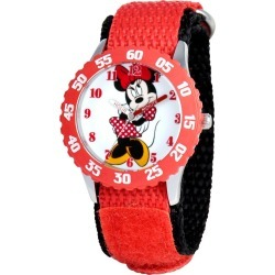 Girls' Disney Minnie Mouse Stainless Steel Case with Bezel Watch - Red, Girl's found on Bargain Bro India from target for $19.72