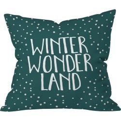 "16""x16""Novelty Zoe Wodarz Winter Wonder Throw Pillow Green - Deny Designs, Green Multicolored"