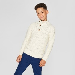 Boys' Long Sleeve Pullover Sweater - Cat & Jack Cream XS, Beige found on Bargain Bro India from target for $11.98