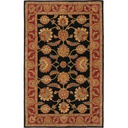 Navy/Red Botanical Tufted Area Rug - (4'X6') - Safavieh , Blue/Red