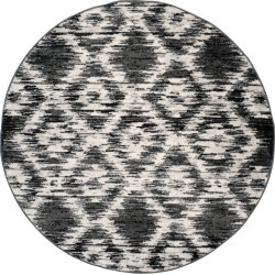 4' Geometric Round Area Rug Charcoal/Ivory - Safavieh, White Gray found on Bargain Bro India from target for $67.49