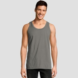 Hanes Men's 1901 Garment Dyed Tank Top - Gray L, Men's, Size: Large found on Bargain Bro Philippines from target for $6.59