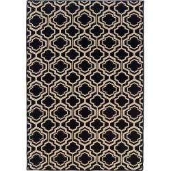 5'X7' quatrefoil Design Area Rug Black - Linon found on Bargain Bro India from target for $255.99