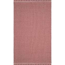 Ivory/Red Stripe Flatweave Woven Area Rug 5'X8' - Safavieh