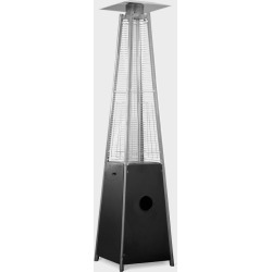 Metal Glass Tube Portable Propane Patio Heater - Black - AZ Patio Heaters